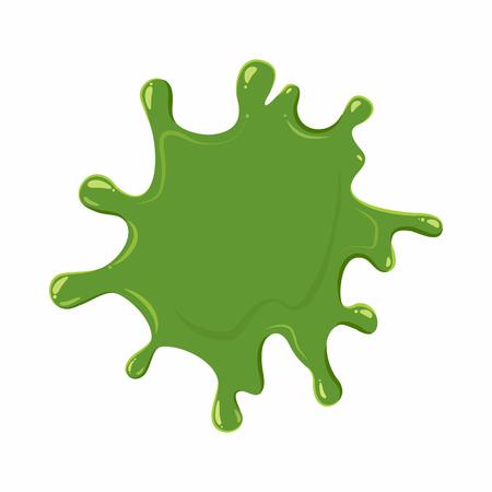 mollusc: Slime blot isolated on white background. Green slime blot vector illustration