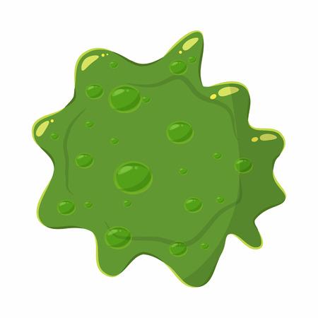 slime: Slime blot isolated on white background. Green slime blot vector illustration