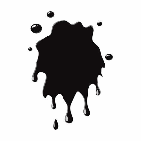 oil spill: Oil spill splash isolated on white background. Black oil blot vector illustration Illustration