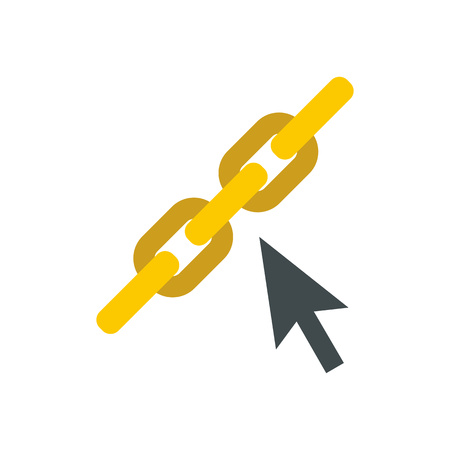 Chain links icon in flat style on a white background Illustration