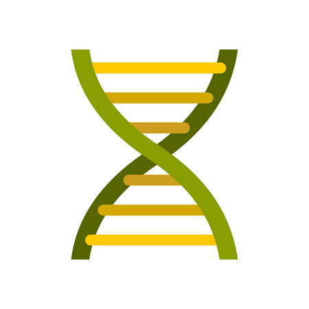 DNA icon in flat style on a white background