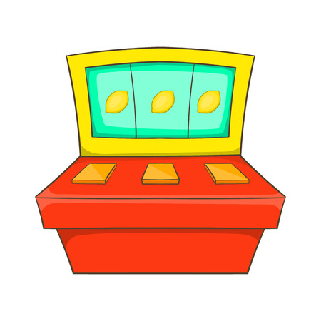 slot in: Slot machine icon in cartoon style isolated on white background. Game symbol