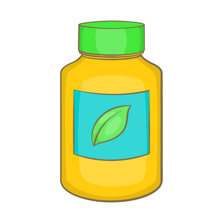 supplement: Supplement icon in cartoon style isolated on white background. Add to food symbol