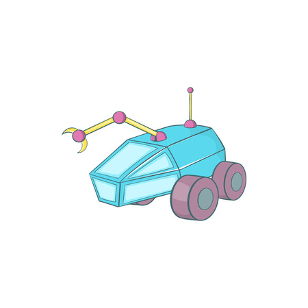lunar rover: Rover icon in cartoon style isolated on white background. Transport symbol