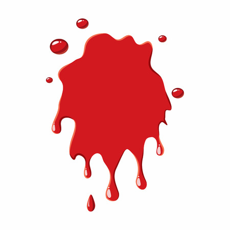 blood stain: Blood stain icon isolated on white background. Liquid symbol Illustration