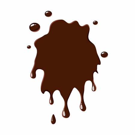unusually: Spot of chocolate icon isolated on white background. Sweets symbol Illustration