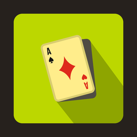 Cheating at play icon in flat style on a green background Illustration