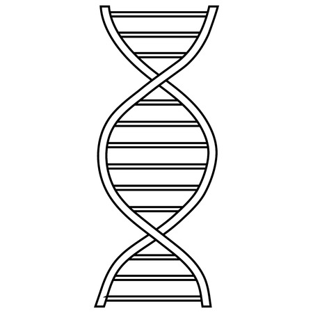genomes: DNA sign icon in outline style isolated on white background