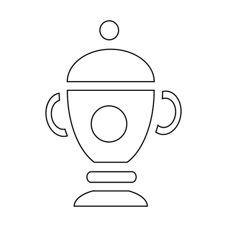 urn: Funeral urn for ashes icon in outline style isolated on white background Illustration