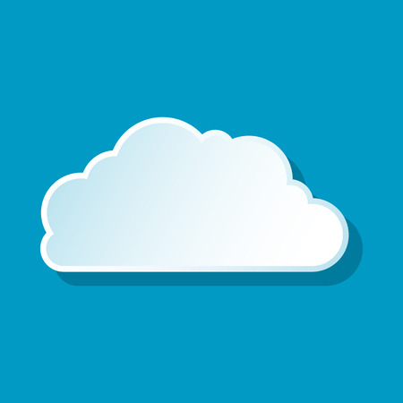 heavenly: Heavenly cloud icon on blue background. Weather symbol Illustration