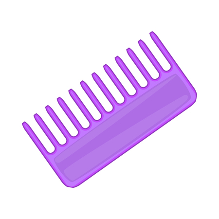 toothed: Toothed comb icon in cartoon style isolated on white background. Accessory symbol