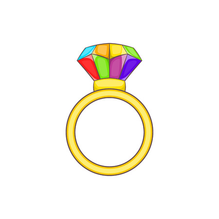 Ring icon in cartoon style isolated on white background. Tolerance symbol