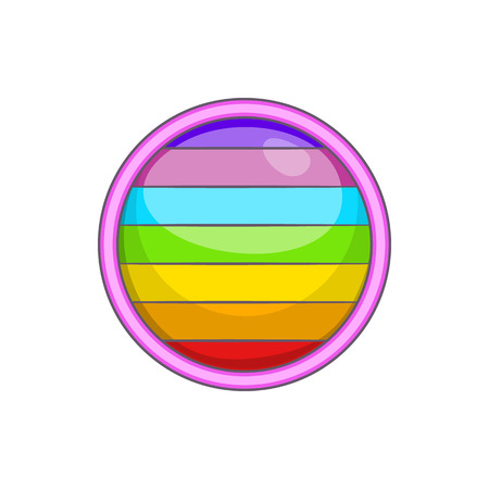tolerance: Circle in colours icon in cartoon style isolated on white background. Tolerance symbol