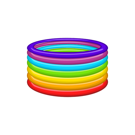 tolerance: Rings in colours   icon in cartoon style isolated on white background. Tolerance symbol