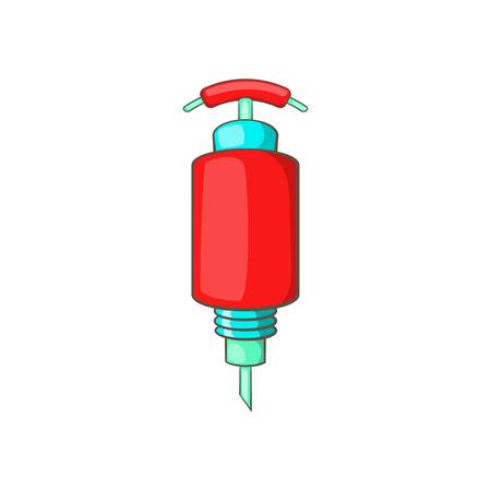 detonator: Detonator icon in cartoon style isolated on white background. Explosion symbol