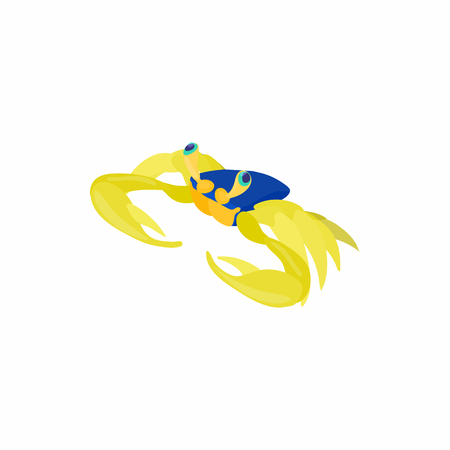 crustaceans: Sea cancer icon in cartoon style isolated on white background. Crustaceans symbol