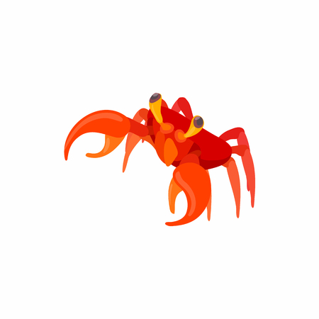 crustaceans: Cancer icon in cartoon style isolated on white background. Crustaceans symbol