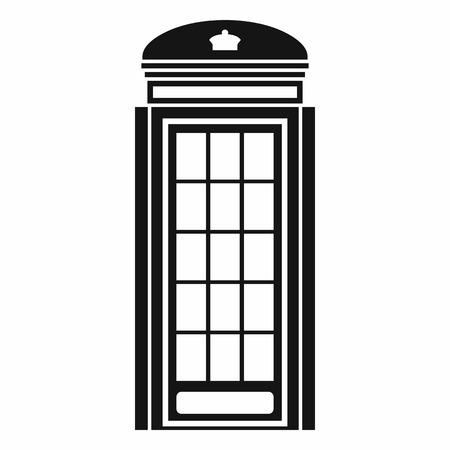 Telefooncel icoon in eenvoudige stijl op een witte achtergrond. call symbool