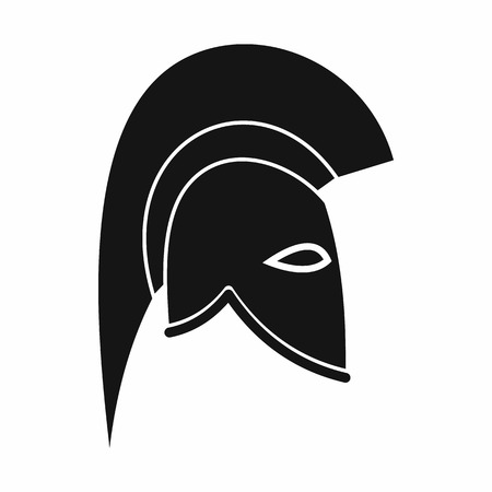 headgear: Roman helmet icon in simple style isolated on white background. Protective headgear symbol
