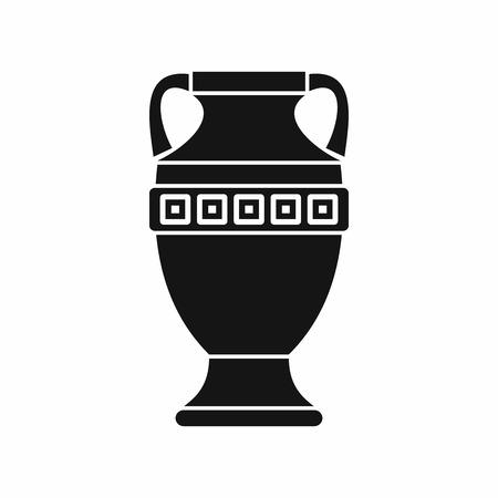 Ancienne icône de piche en style simple isolé sur fond blanc. Symbole de plats