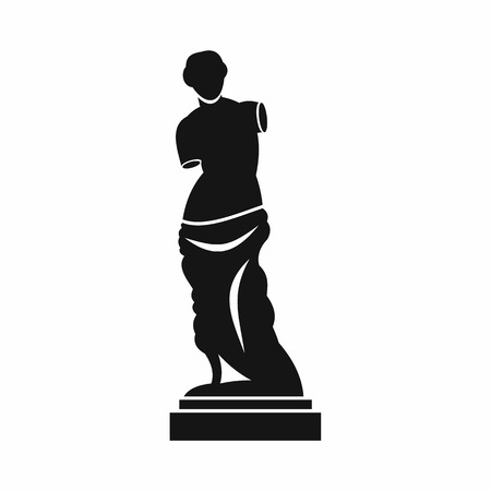 Ancient statue icon in simple style isolated on white background. Art symbol Illusztráció
