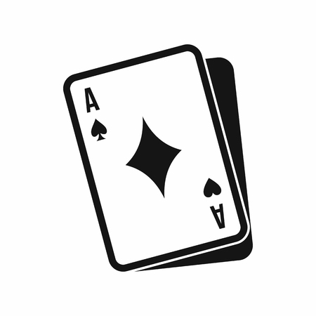 Playing card icon in simple style isolated on white background. Play symbol Illustration