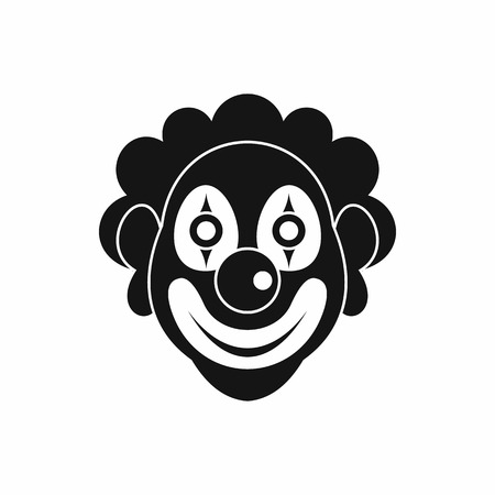 joke: Clown icon in simple style isolated on white background. Joke symbol