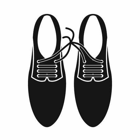 jest: Tied laces on shoes joke icon in simple style isolated on white background. Jest symbol