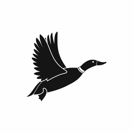 waterfowl: Duck icon in simple style isolated on white background. Waterfowl symbol Illustration