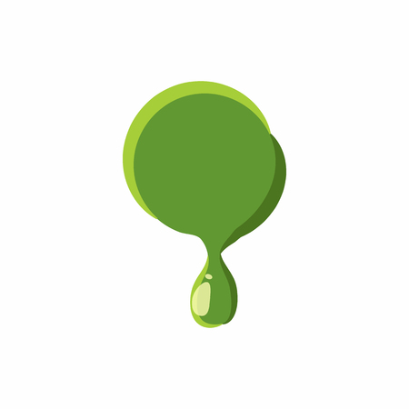 punctuation mark: Punctuation mark point from latin alphabet with numbers and symbols made of green slime. Font can be used for Halloween design and other purposes