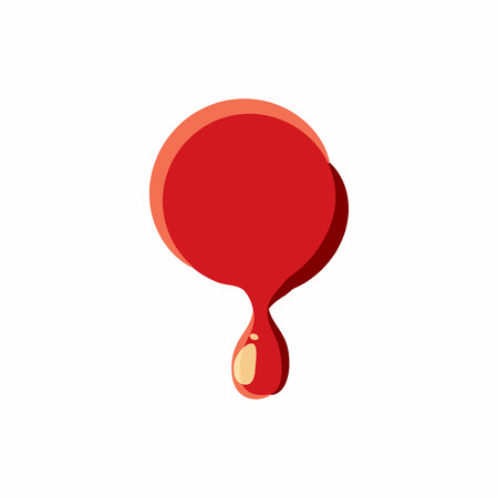 punctuation mark: Dot punctuation mark isolated on white background. Red bloody dot vector illustration