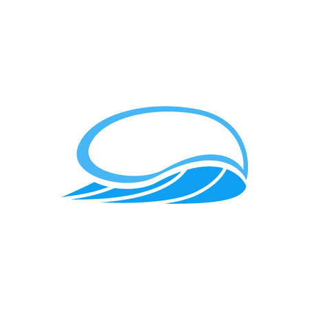 high sea: High sea wave icon in simple style isolated on white background. Water and ocean symbol