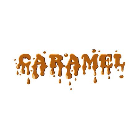 Word caramel icon isolated on white background. Sweetness symbol Illustration