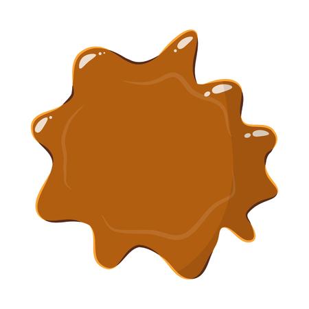 sweetness: Brown caramel icon isolated on white background. Sweetness symbol