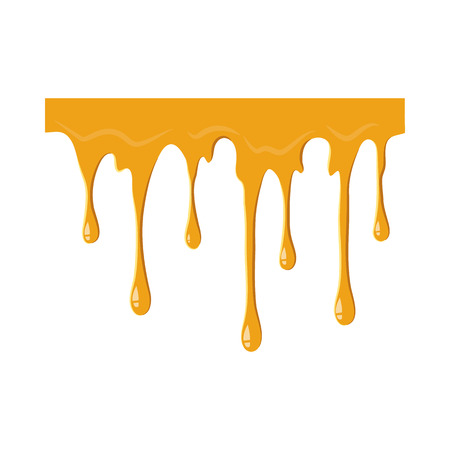 Flowing honey icon isolated on white background. Product symbol Stock Photo