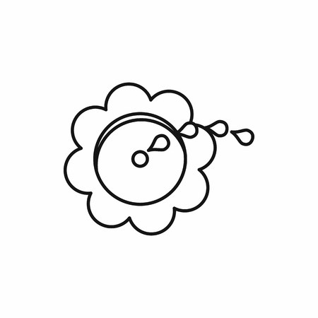 Flower spinkler icon in outline style on a white background