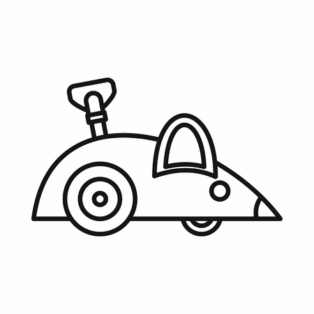 Clockwork mouse icon in outline style on a white background