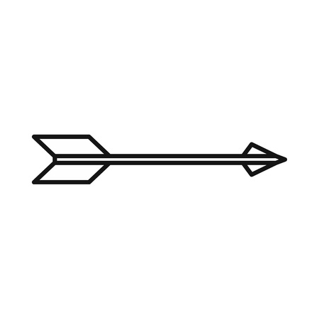 arrow right icon: Bow arrow right icon in outline style on a white background
