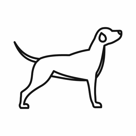 Hunting dog icon in outline style on a white background Illustration
