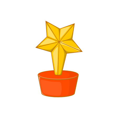 star award: Star award icon in cartoon style isolated on white background