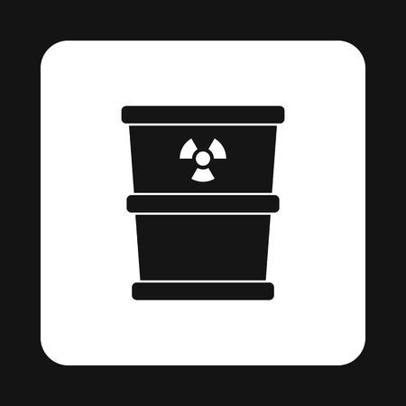hazardous waste: Bucket for hazardous waste icon in simple style isolated on white background. Sanitation symbol