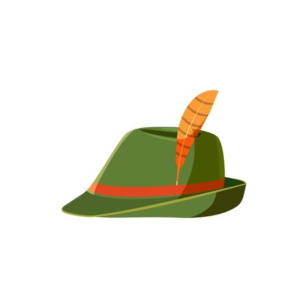 tirol: Oktoberfest tirol hat icon in cartoon style isolated on white background