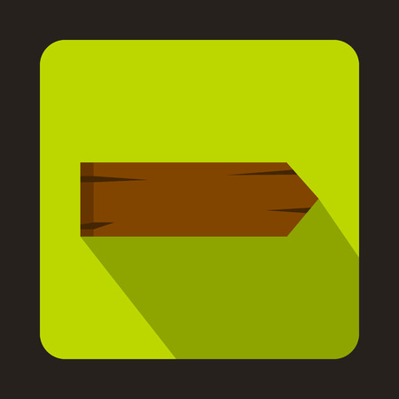 singpost: Wooden signpost icon in flat style with long shadow Illustration
