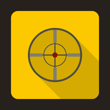Optical sight icon in flat style with long shadow Illustration