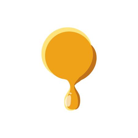 symbol  punctuation: Point from honey icon isolated on white background. Punctuation symbol Illustration