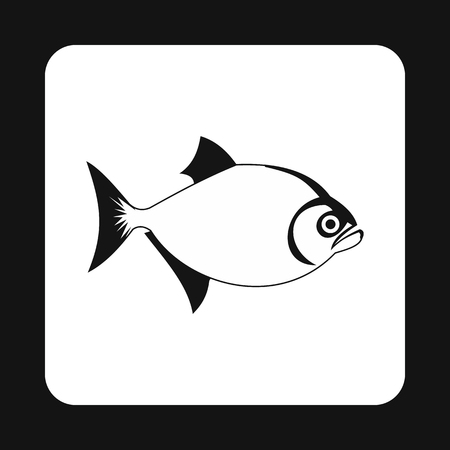 inhabitants: Vampire fish icon in simple style isolated on white background. Inhabitants aquatic environment symbol