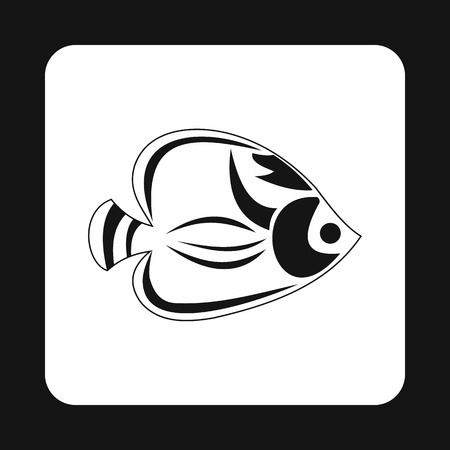 tang: Fish tang icon in simple style isolated on white background. Inhabitants aquatic environment symbol