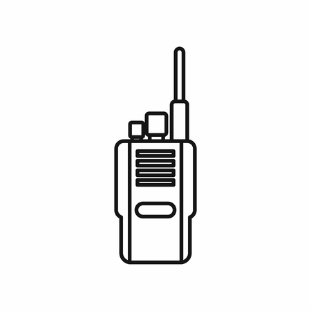 simplex: Portable radio transceiver icon in outline style on a white background