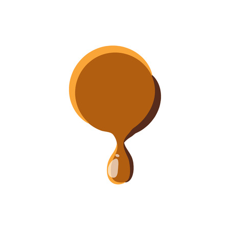 melting point: Point from caramel icon isolated on white background. Punctuation symbol