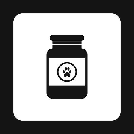 veterinary symbol: Treatment solution for animals icon in simple style isolated on white background. Veterinary symbol
